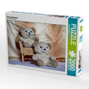 CALVENDO Puzzle Zwillingsbärchen 2000 Teile Lege-Größe 90 x 67 c