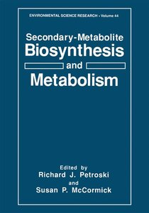 Secondary-Metabolite Biosynthesis and Metabolism
