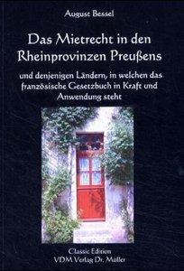 Das Mietrecht in den Rheinprovinzen Preußens