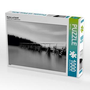 Warten auf Schiff 1000 Teile Puzzle quer