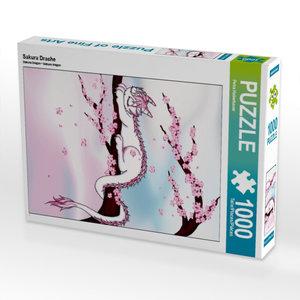 Sakura Drache 1000 Teile Puzzle hoch