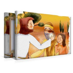Premium Textil-Leinwand 45 cm x 30 cm quer Jesus heilt einen bli