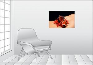 Premium Textil-Leinwand 75 cm x 50 cm quer Chili - Feige