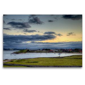 Premium Textil-Leinwand 120 cm x 80 cm quer Die Lindisfarne von