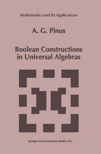 Boolean Constructions in Universal Algebras