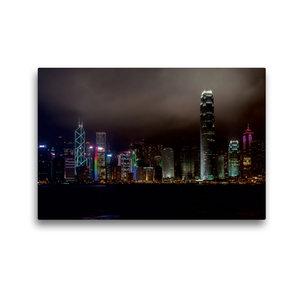 Premium Textil-Leinwand 45 cm x 30 cm quer Hong Kong Island