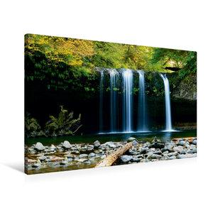 Premium Textil-Leinwand 90 cm x 60 cm quer Wasserfall im Dschung