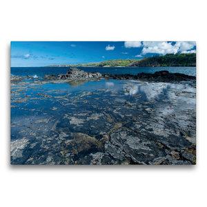 Premium Textil-Leinwand 75 cm x 50 cm quer An der Kahili Bay