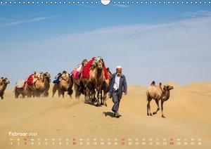 Unterwegs in der Taklamakan Wüste (Wandkalender 2019 DIN A3 quer