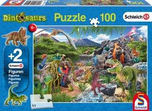 Schmidt Spiele Puzzle Im Reich der Dinosaurier 100 Teile mit 2 S