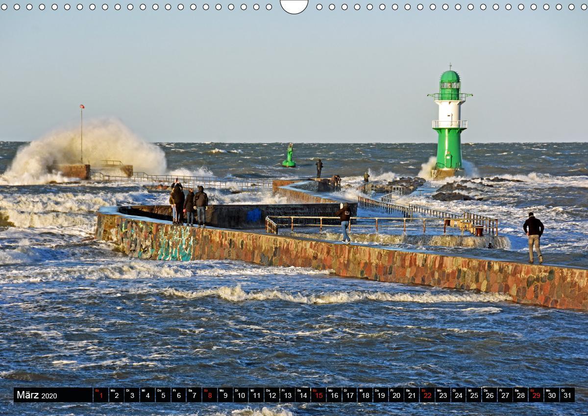 Warnemünde und Rostock, Perlen an der Ostsee (Wandkalender 2020 - zum Schließen ins Bild klicken