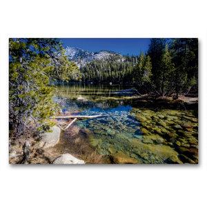 Premium Textil-Leinwand 90 cm x 60 cm quer Tenaya Lake, Yosemite