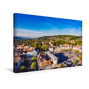Premium Textil-Leinwand 45 cm x 30 cm quer Blick über Bad Hersfe