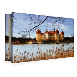 Premium Textil-Leinwand 90 cm x 60 cm quer Moritzburg