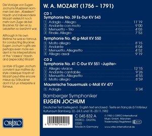 """Sinfonie KV 551 """"Jupiter""""/Maurische Trauermusik"""