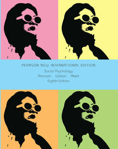 Social Psychology, New International Edition