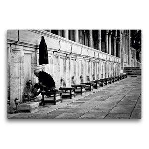 Premium Textil-Leinwand 75 cm x 50 cm quer Sultanahmet Camii - B