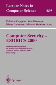 Computer Security - ESORICS 2000