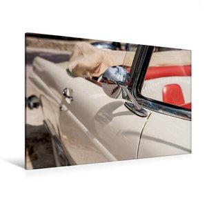 Premium Textil-Leinwand 120 cm x 80 cm quer Ford Thunderbird Con