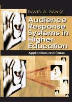 Audience Response Systems in Higher Education: Applications and - zum Schließen ins Bild klicken
