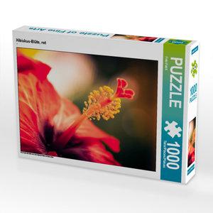 CALVENDO Puzzle Hibiskus-Blüte, rot 1000 Teile Lege-Größe 64 x 4