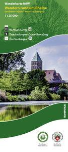 Wanderkarte NRW: Wandern rund um Rheine 1 : 25 000