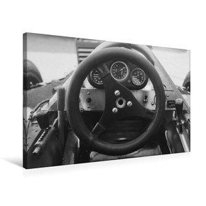 Premium Textil-Leinwand 75 cm x 50 cm quer Formel-Cockpit 1982