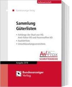Sammlung Güterlisten - Ausgabe 2018