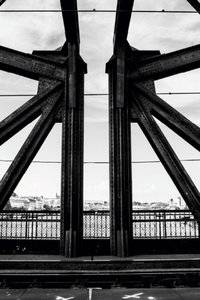 Premium Textil-Leinwand 30 cm x 45 cm hoch Stahlbrücke