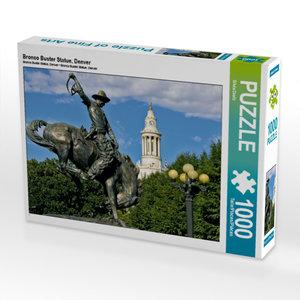 CALVENDO Puzzle Bronco Buster Statue, Denver 1000 Teile Lege-Grö
