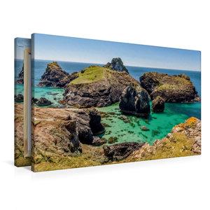 Premium Textil-Leinwand 90 cm x 60 cm quer Kynance Cove in Cornw