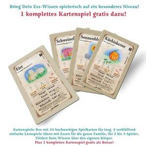 """jeu-d\'oeuvre Karten Spiele Box. Das Spiel zum Buch: \""""Mit Essen"""