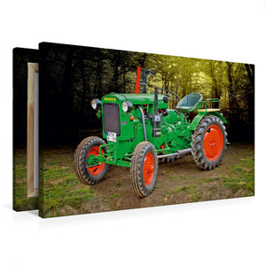 Premium Textil-Leinwand 75 cm x 50 cm quer Oldtimer Traktor Deut