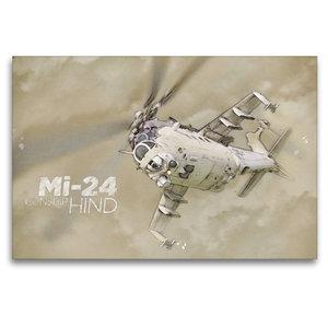 Premium Textil-Leinwand 120 cm x 80 cm quer Mi-24