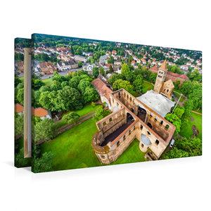 Premium Textil-Leinwand 90 cm x 60 cm quer Stiftsruine