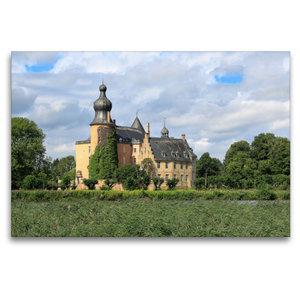 Premium Textil-Leinwand 120 cm x 80 cm quer Wasserburg Gemen in