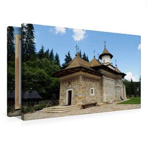 Premium Textil-Leinwand 75 cm x 50 cm quer Kloster Sihastria Put