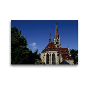 Premium Textil-Leinwand 45 cm x 30 cm quer Lutherkirche Bad Harz