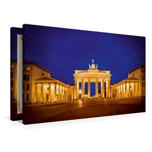 Premium Textil-Leinwand 90 cm x 60 cm quer Funkelndes Brandenbur