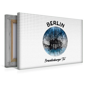 Premium Textil-Leinwand 45 cm x 30 cm quer Graphic-Art BERLIN Br