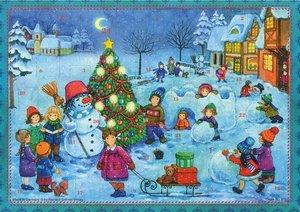 """Adventskalender \""""Wir bauen einen Schneemann\"""""""