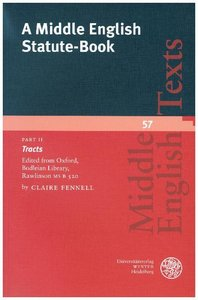 A Middle English Statute-Book