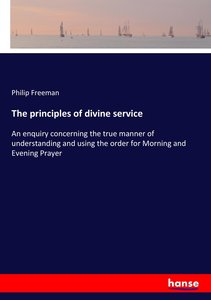 The principles of divine service