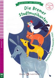 Die Bremer Stadtmusikanten. Buch + Multi-ROM