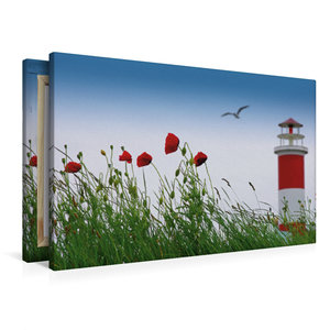 Premium Textil-Leinwand 90 cm x 60 cm quer Sommerfreude am Meer