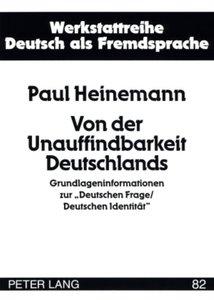 Von der Unauffindbarkeit Deutschlands
