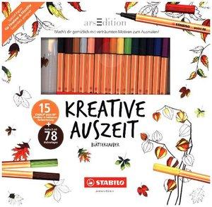 STABILO Kreative Auszeit - Blätterzauber (Malbuch + 15 Stifte po