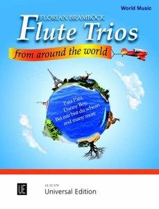 Flute Trios from around the World, für 3 Flöten, Spielpartitur u
