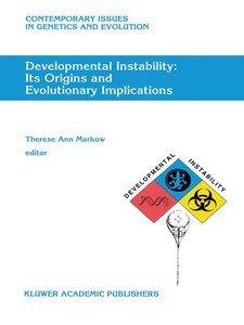 Developmental Instability: Its Origins and Evolutionary Implicat