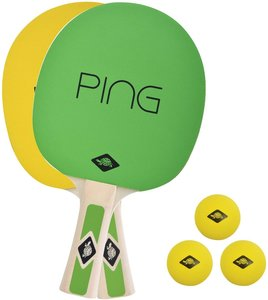 Donic-Schildkröt 788486 - Tischtennis-Set PING PONG, 1 Schläger,